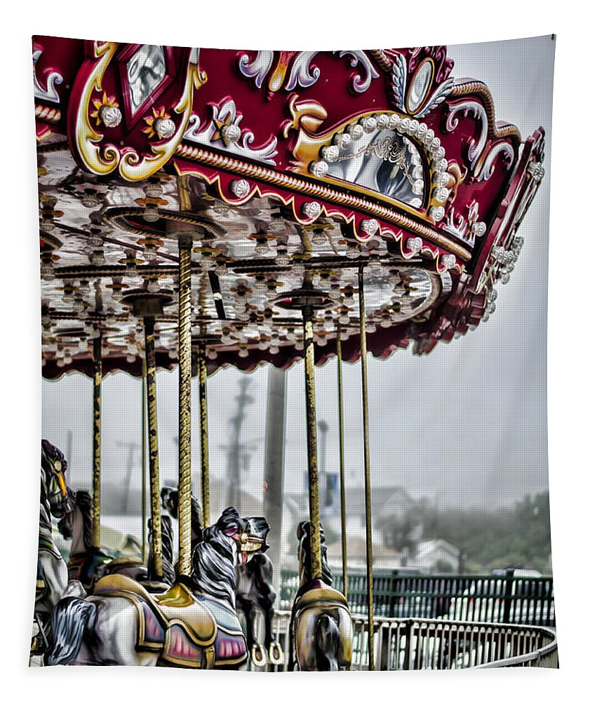Carousel Tapestry featuring the photograph Boardwalk Carousel by Heather Applegate