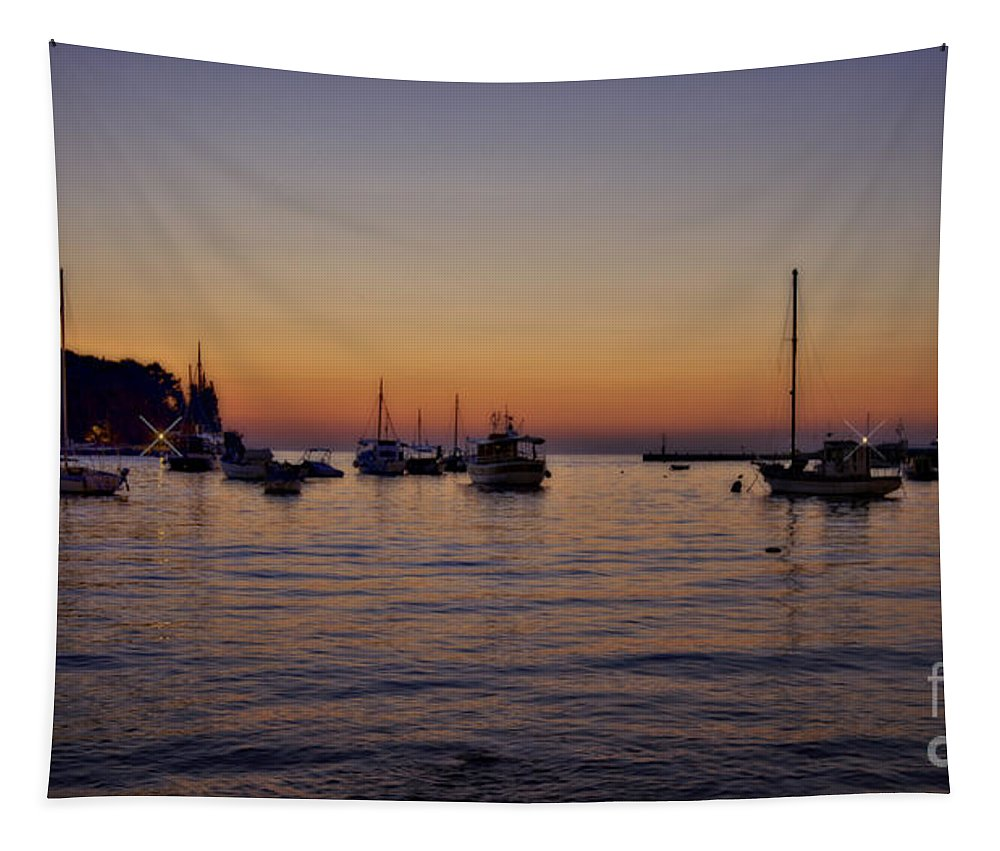 Boats Tapestry featuring the photograph Boats On The Adriatic Sea by Madeline Ellis