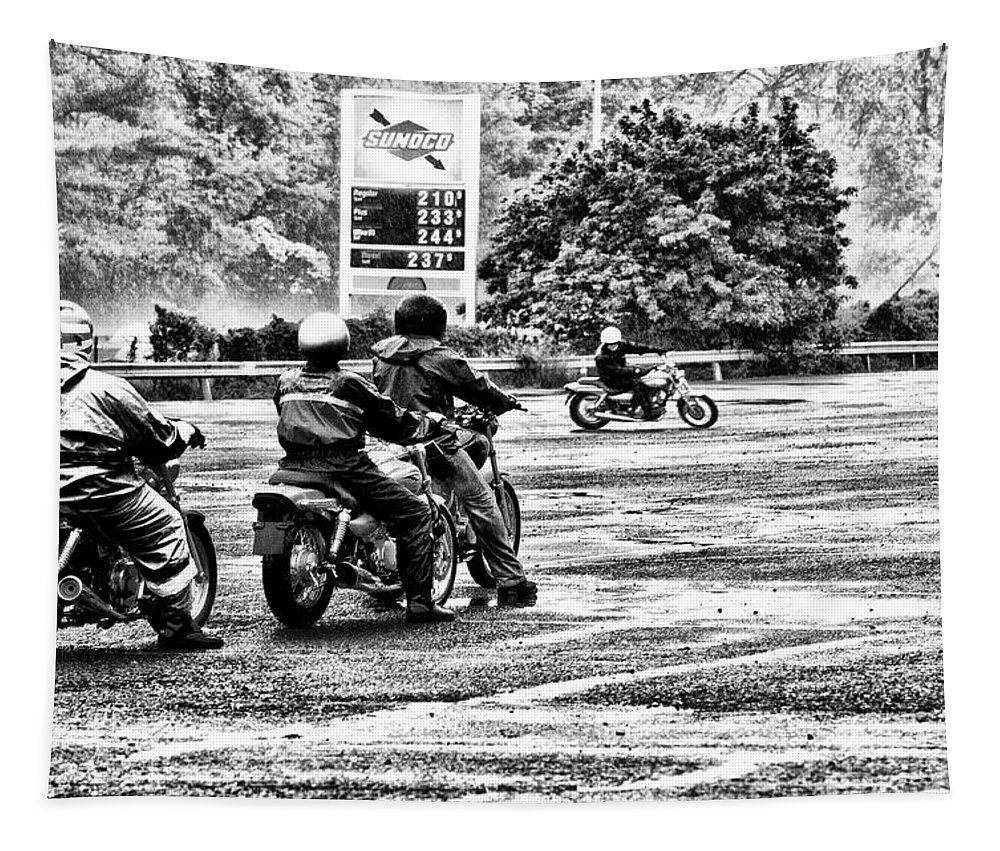 Motorcycle Tapestry featuring the photograph Born To Be Wild by Bill Cannon