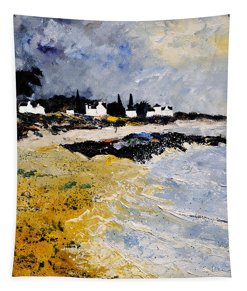 Sescape Tapestry featuring the painting Bretagne Sascape by Pol Ledent