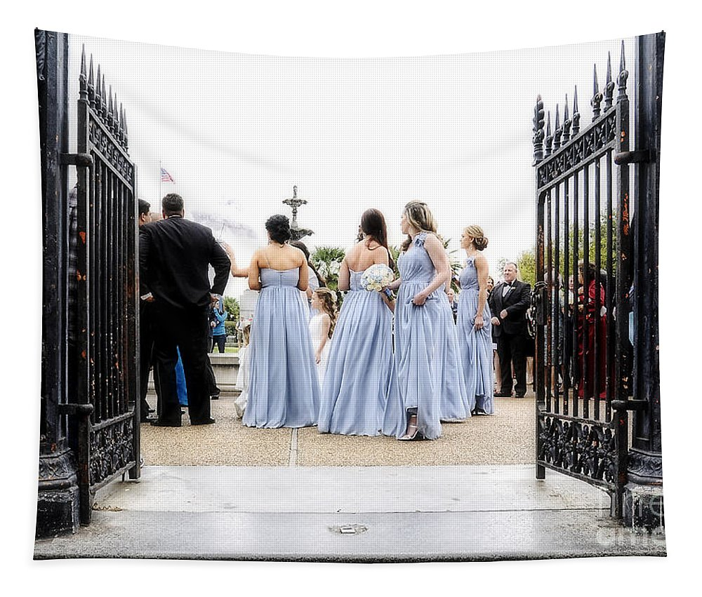 Bridal Tapestry featuring the photograph Bridesmaids by Kathleen K Parker