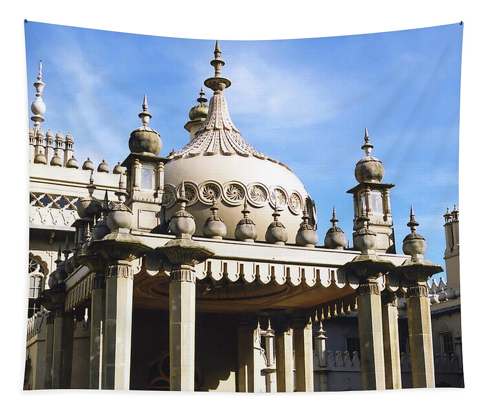 England Tapestry featuring the photograph Brighton Pavilion by Mary Lane