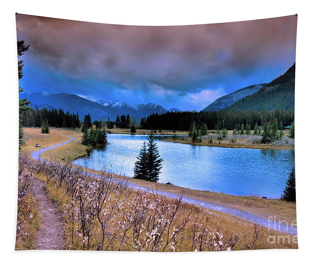 Banff Tapestry featuring the photograph Brooding Skies by Tara Turner