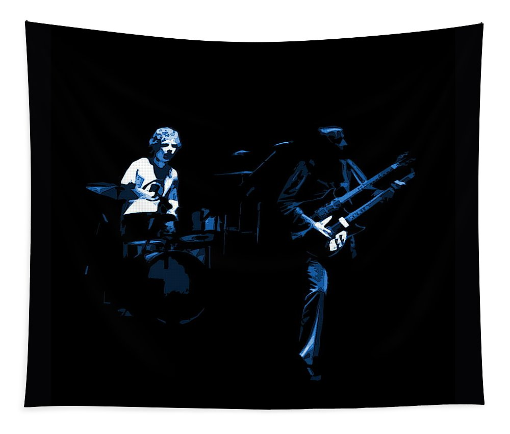 Genesis Tapestry featuring the photograph Bruford And Rutherford Blue by Ben Upham