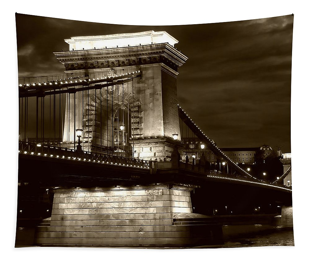 Budapest Tapestry featuring the photograph Budapest Nights by Mary Lane