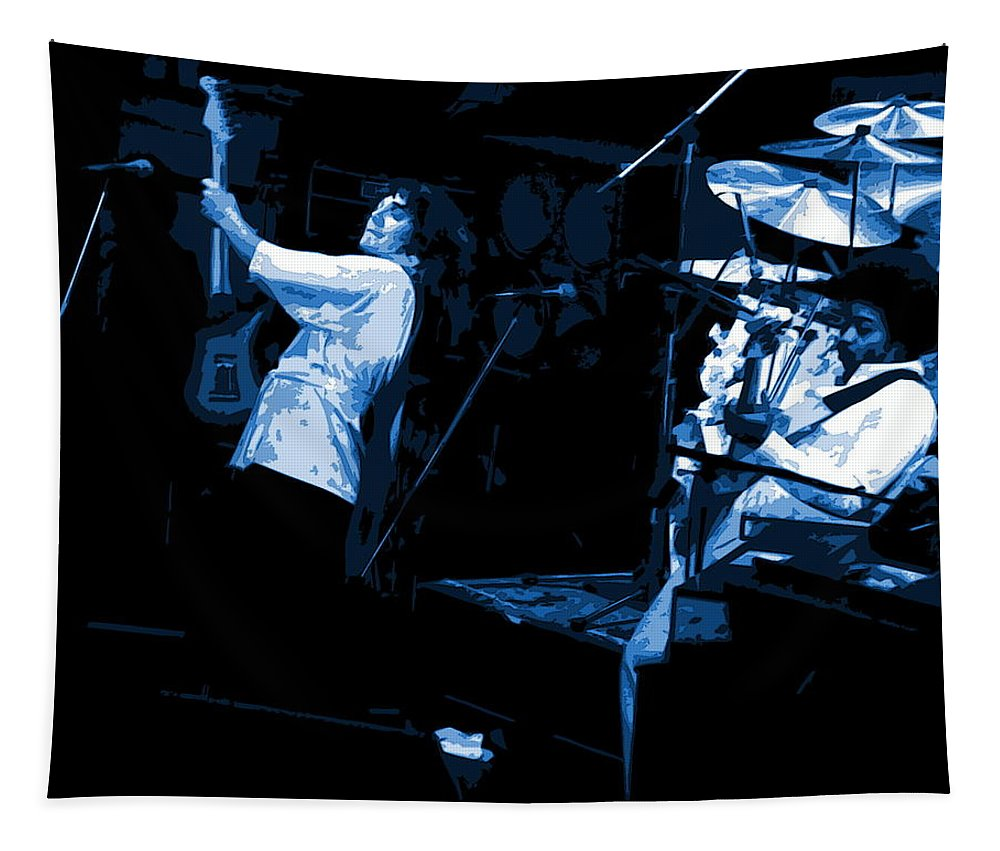 Tommy Bolin Tapestry featuring the photograph Bustin Out For Blue Winterland by Ben Upham