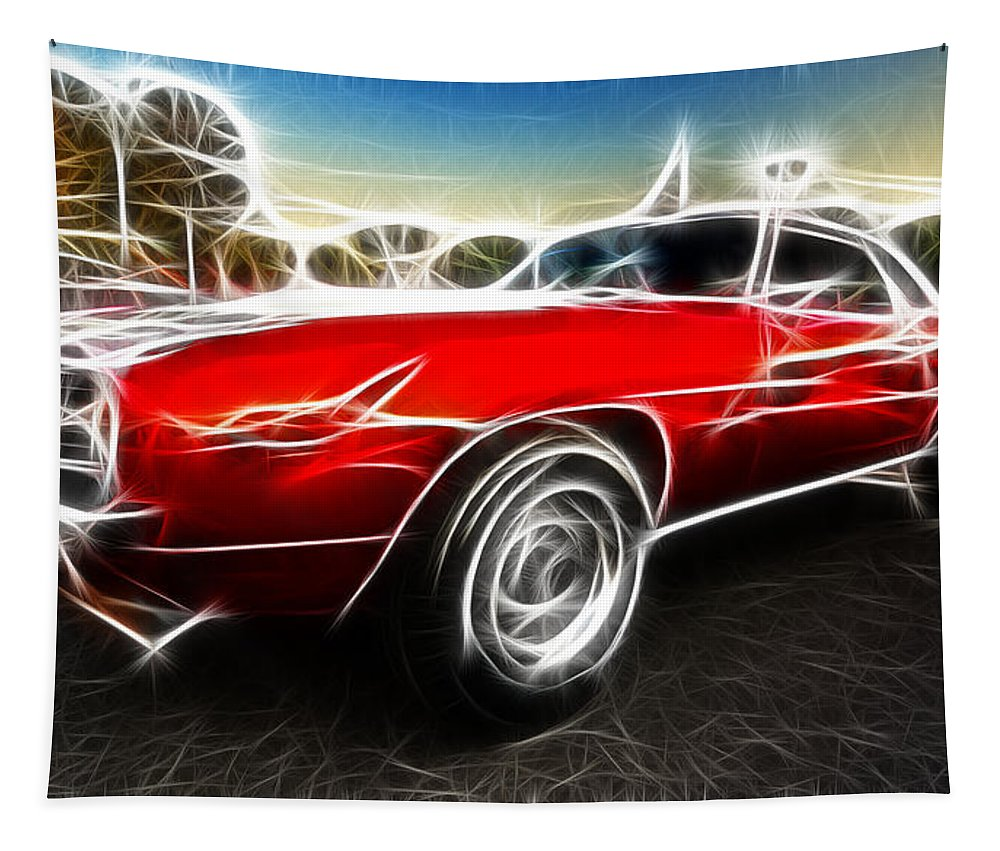 Camaro Z28 Tapestry featuring the photograph Camaro Z28 Fantasy Car by Paul Ward