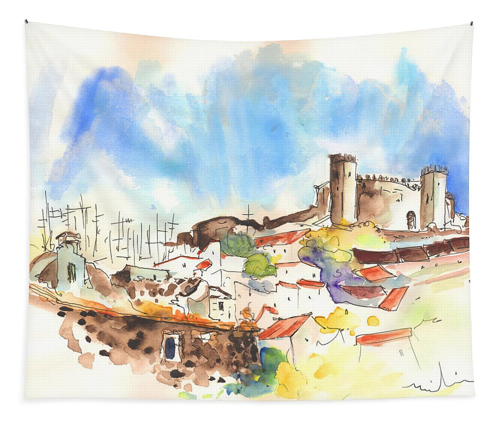 Portugal Tapestry featuring the painting Campo Maior In Portugal 02 by Miki De Goodaboom