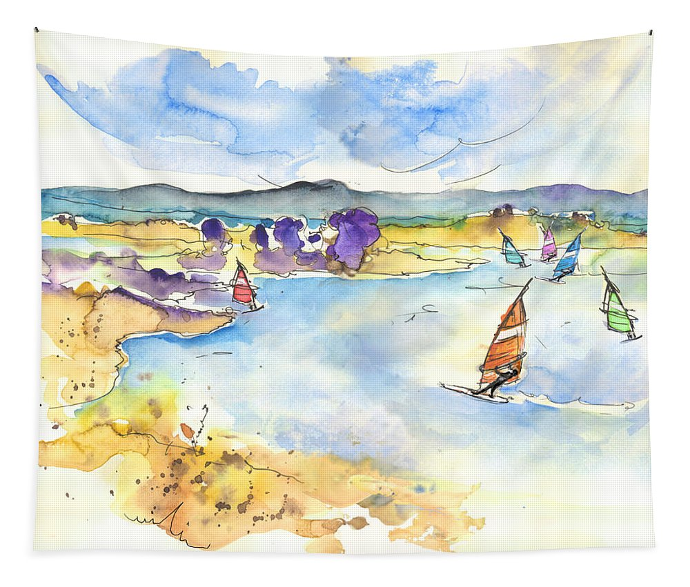 Portugal Tapestry featuring the painting Campo Maior In Portugal 04 by Miki De Goodaboom