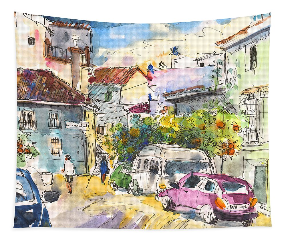 Travel Tapestry featuring the painting Canillas De Aceituno by Miki De Goodaboom