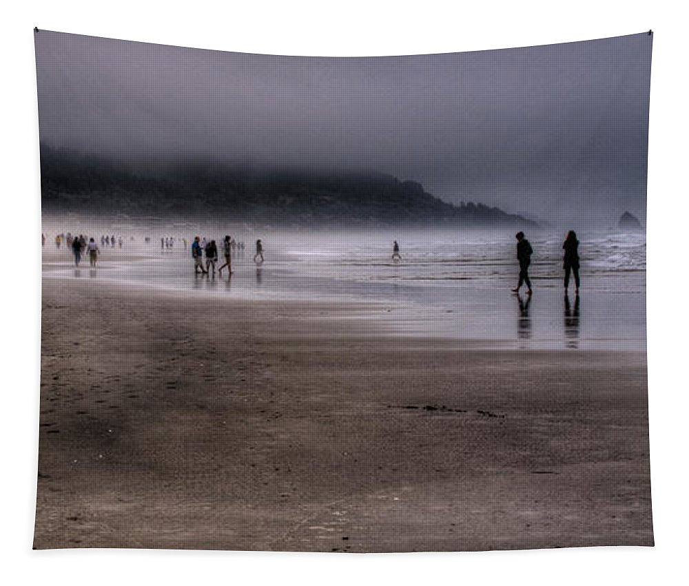 Cannon Beach Tapestry featuring the photograph Cannon Beach Mist by David Patterson
