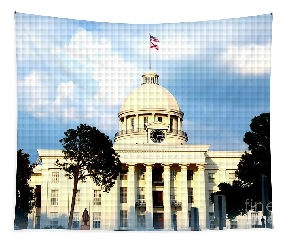 Montgomery Tapestry featuring the photograph Capitol Building In Montgomery by Carol Groenen
