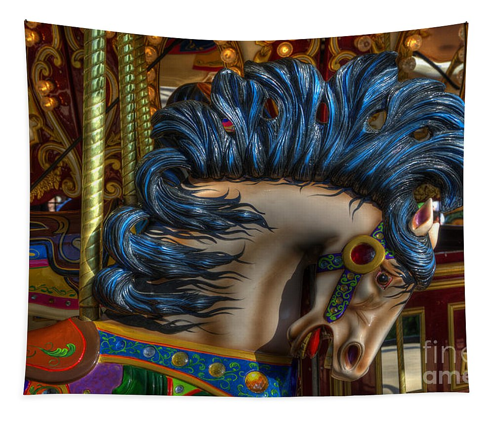 Carousel Tapestry featuring the photograph Carousel Beauty Star Of The Show by Bob Christopher
