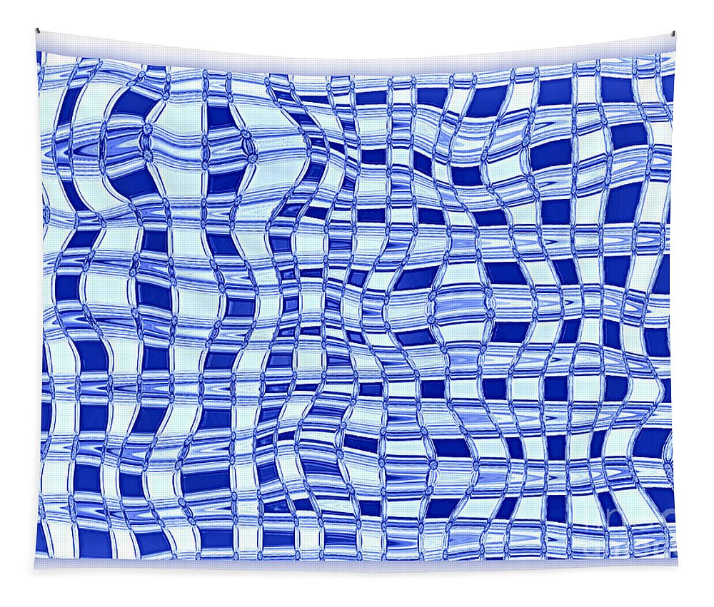 Abstract Tapestry featuring the photograph Catch A Wave - Blue Abstract by Carol Groenen