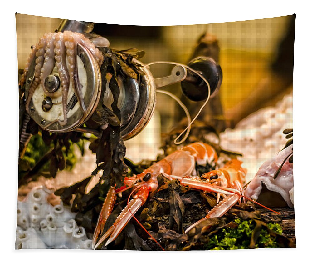 Norway Lobster Tapestry featuring the photograph Catch Of The Day by Heather Applegate