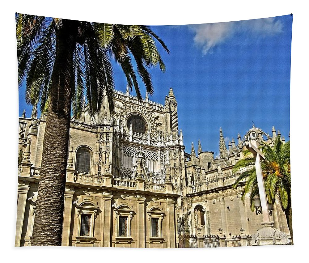 Europa Tapestry featuring the photograph Catedral De Santa Maria De La Sede - Sevilla by Juergen Weiss