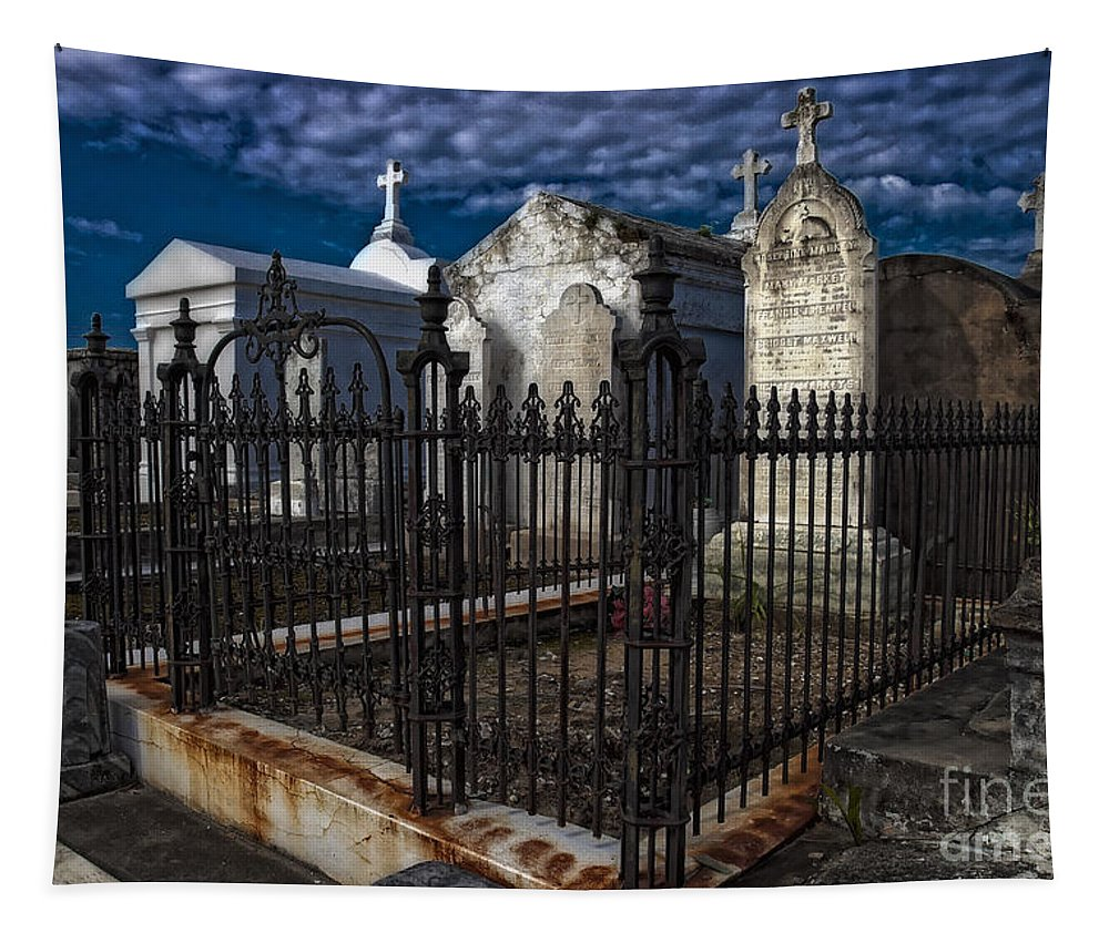 Tombs Tapestry featuring the photograph Cemetery Landscape by Kathleen K Parker