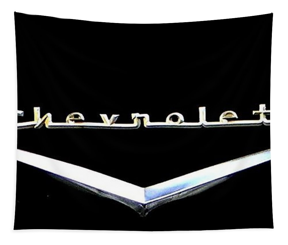 Chevrolet Tapestry featuring the photograph Chevrolet Logo by Leslie Revels