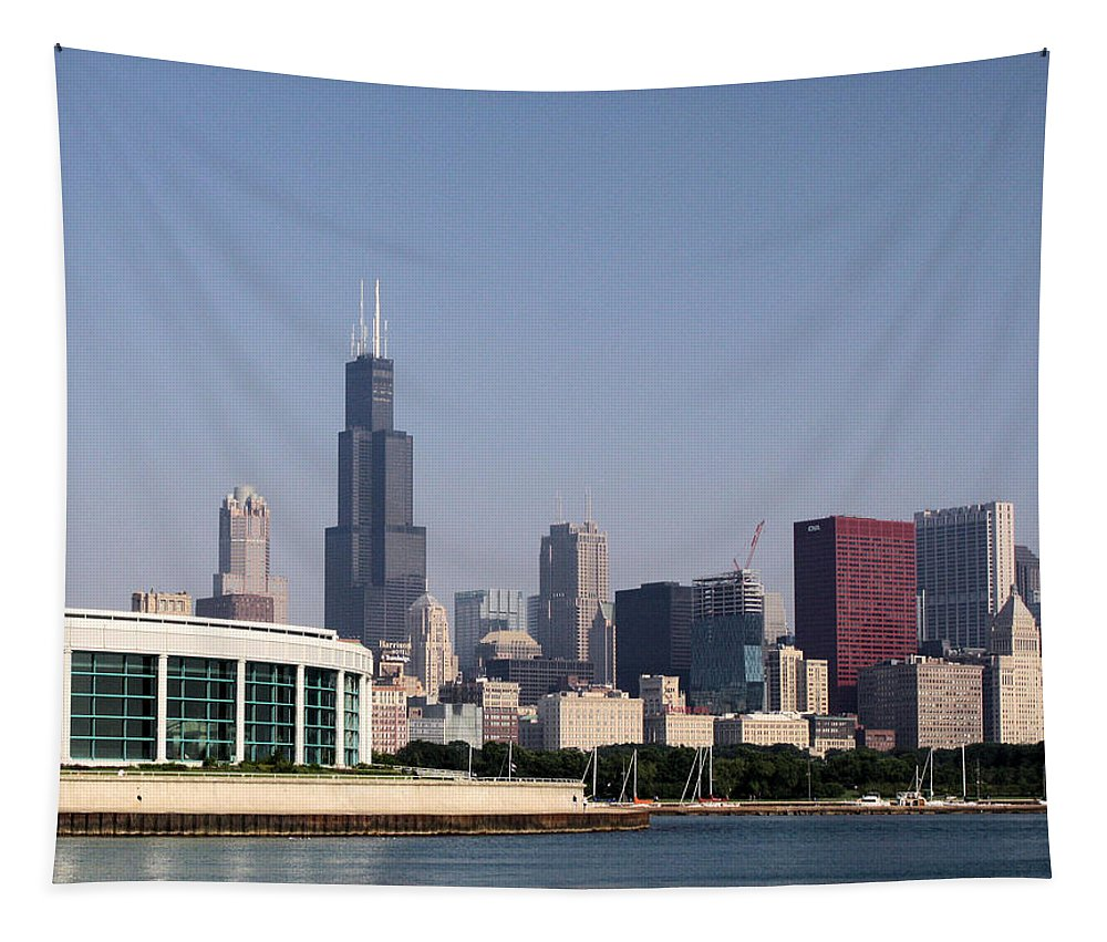 Chicago Tapestry featuring the photograph Chicago Waterfront by Ely Arsha