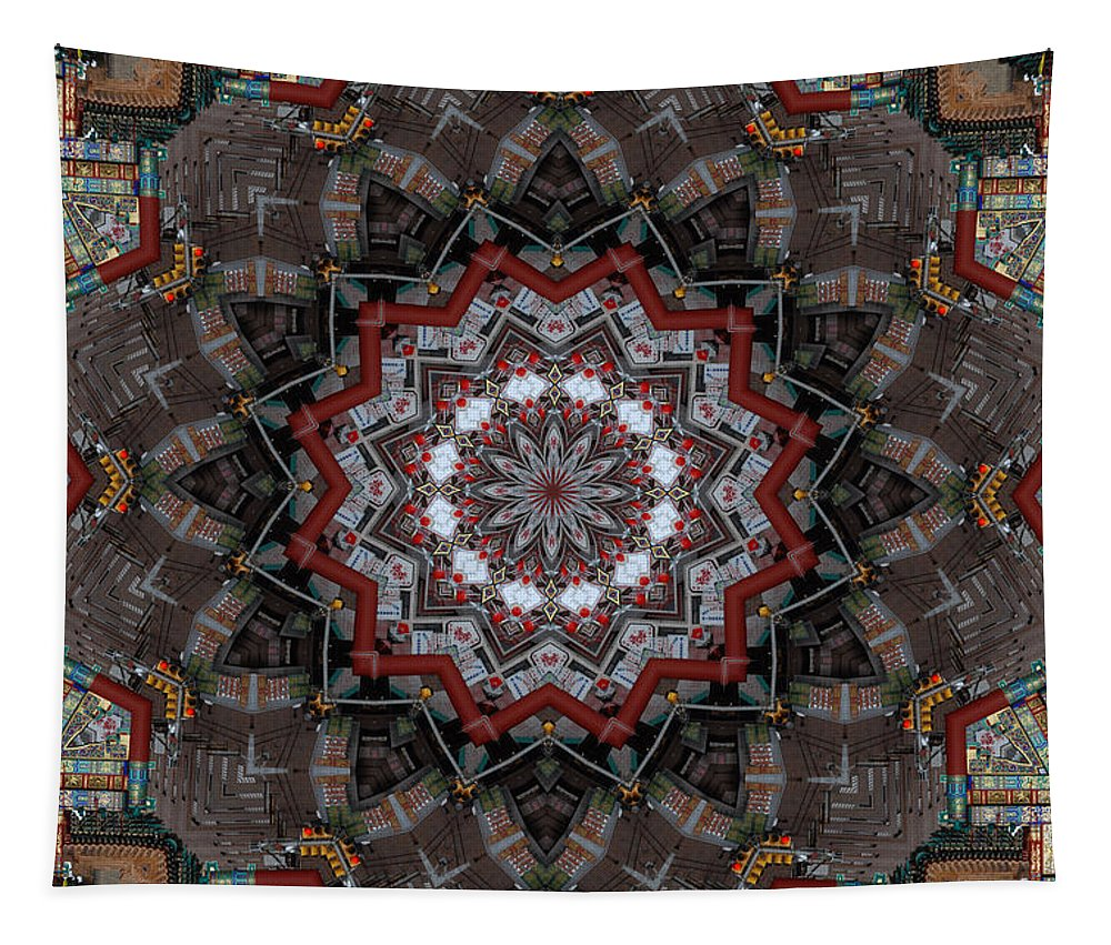 China Town Tapestry featuring the photograph China Town by Trish Tritz