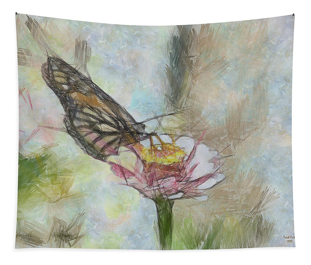 Butterfly Tapestry featuring the photograph Chinese Butterfly by Trish Tritz