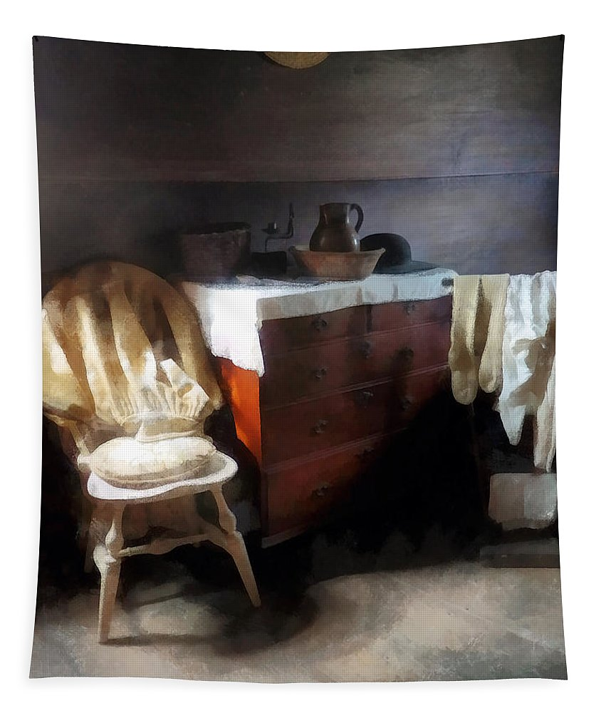 Nightclothes Tapestry featuring the photograph Colonial Nightclothes by Susan Savad