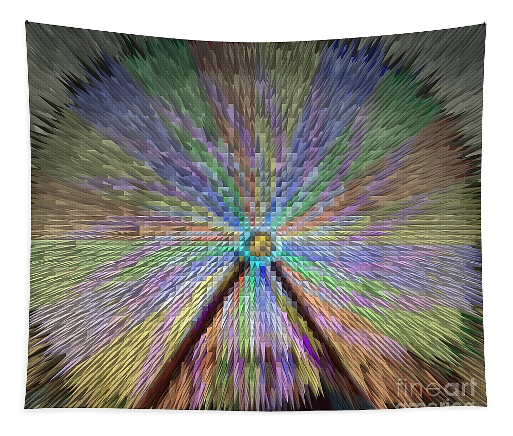 Extrude Tapestry featuring the photograph Colorful Fair Wheel by Donna Brown