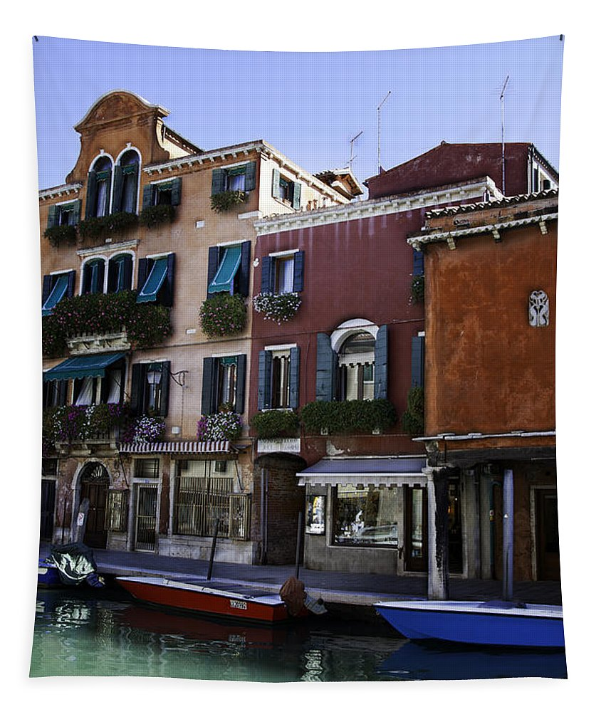 Venice Tapestry featuring the photograph Colors Of Venice by Madeline Ellis