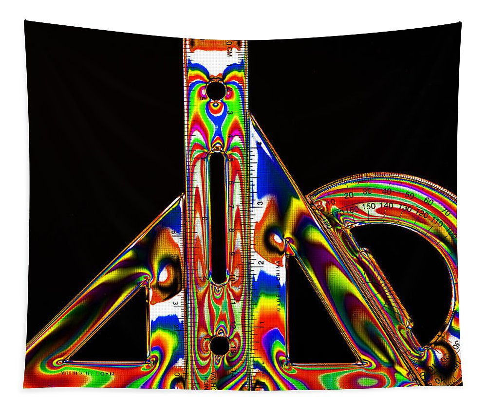 Geometry Set Tapestry featuring the photograph Colourful Geometry by Steve Purnell