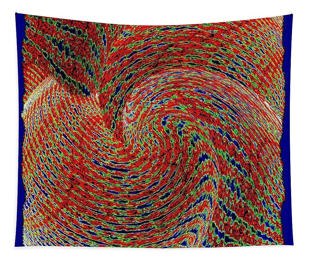 Abstract Tapestry featuring the digital art Conceptual 25 by Will Borden