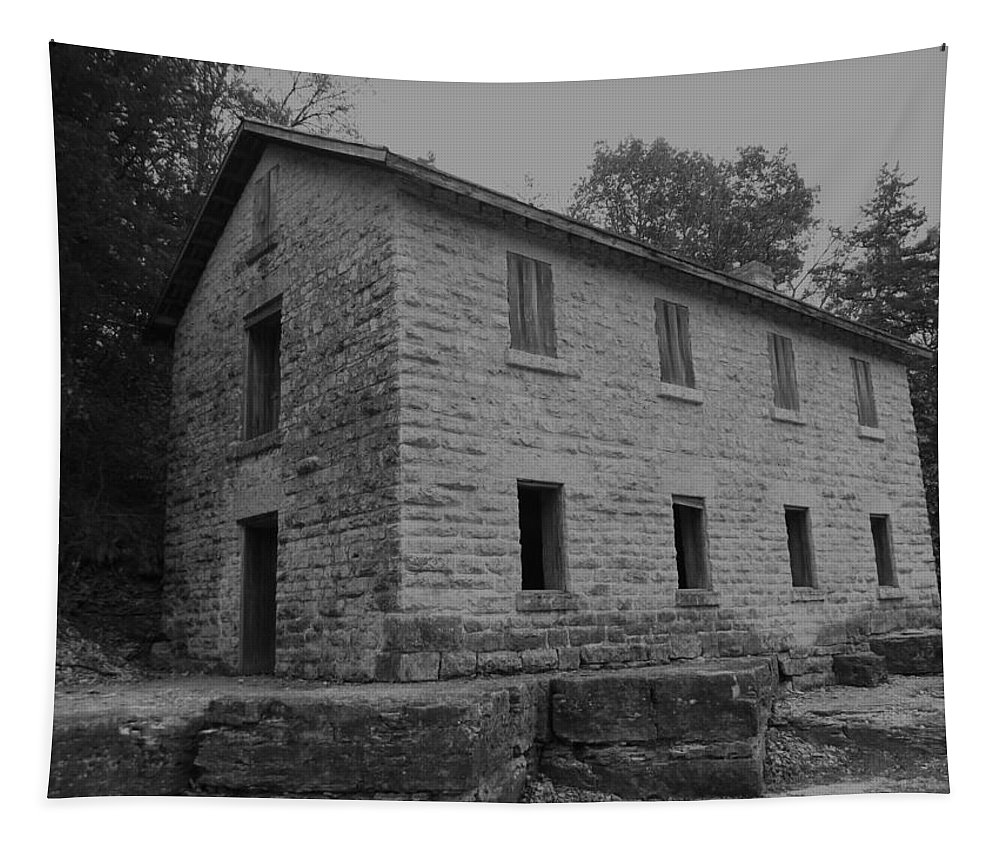 Cooperage Tapestry featuring the photograph Cooperage Bw by Bonfire Photography