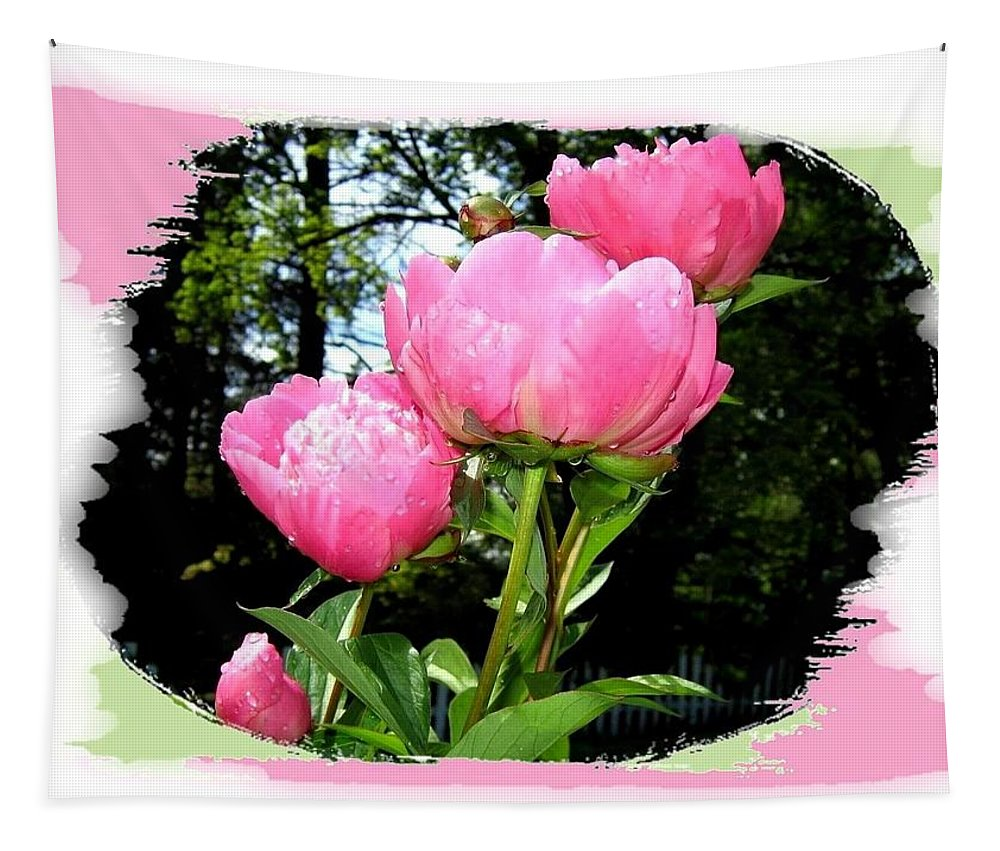 Peonies Tapestry featuring the photograph Country Peonies by Will Borden