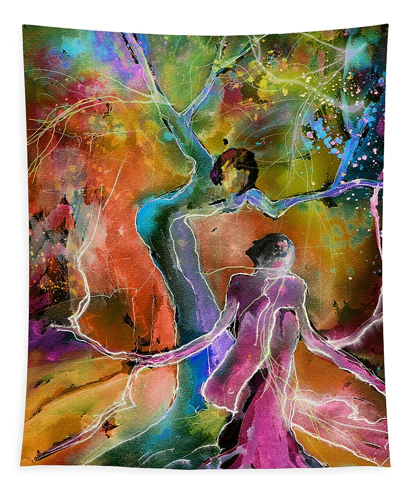 Love Tapestry featuring the painting Coup De Foudre by Miki De Goodaboom