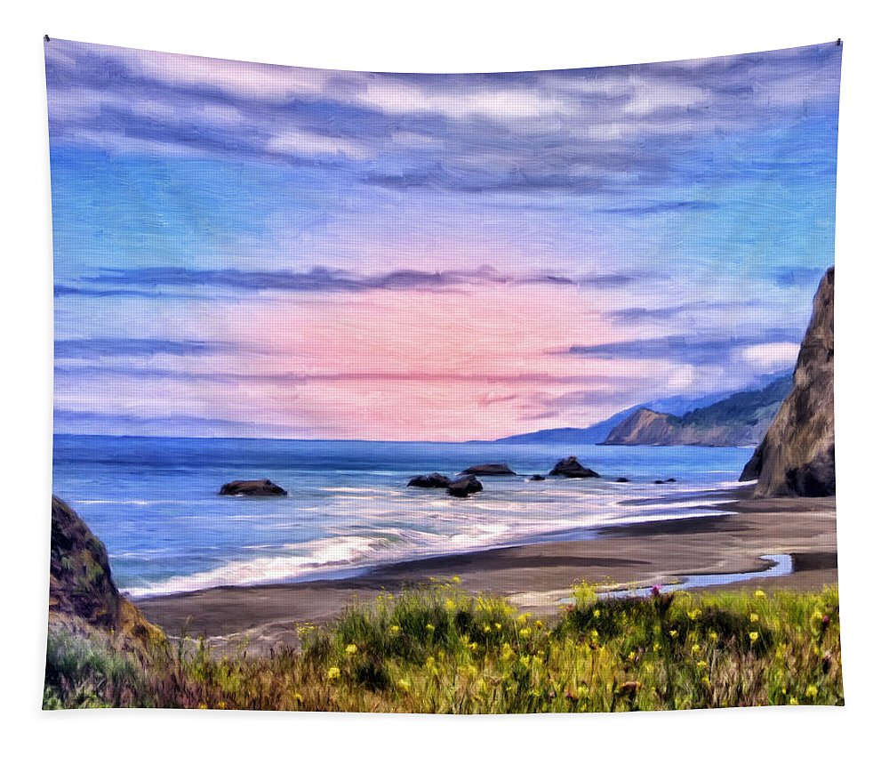Cove On The Lost Coast Tapestry featuring the painting Cove On The Lost Coast by Dominic Piperata