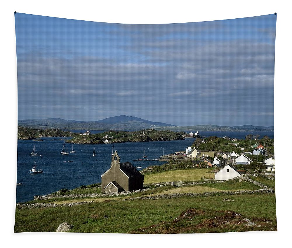 Boat Tapestry featuring the photograph Crookhaven, Co Cork, Ireland by The Irish Image Collection