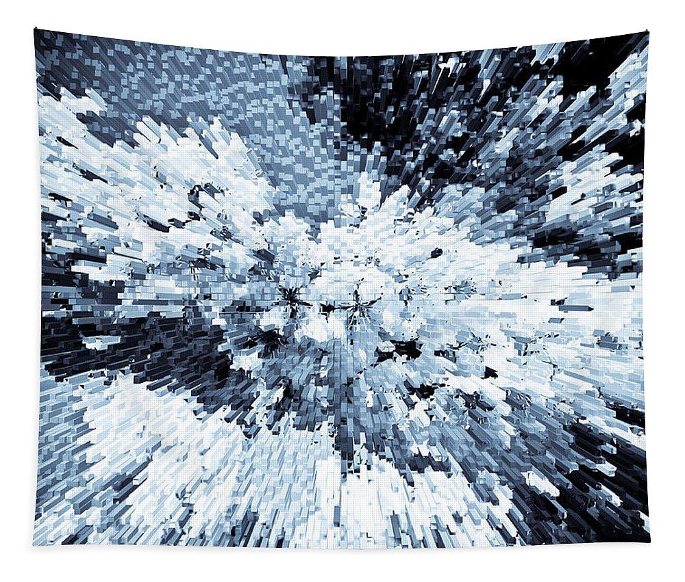 Crystal Tapestry featuring the digital art Crystal Flowers by David Pyatt