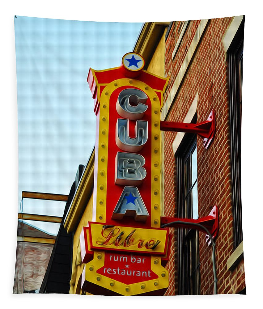 Cuba Libre Tapestry featuring the photograph Cuba Libre by Bill Cannon