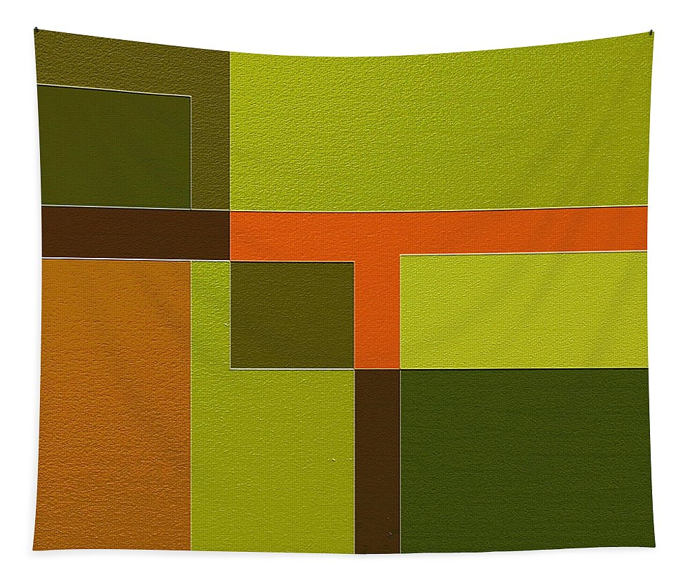 Abstract Art Tapestry featuring the painting Custody by Ely Arsha