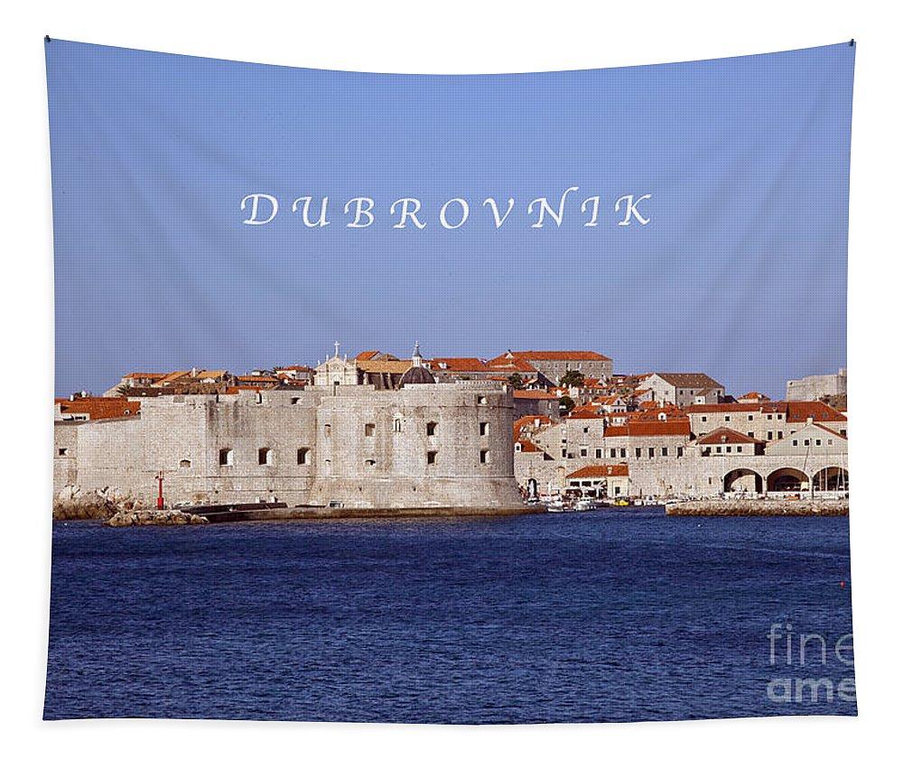 Dubrovnik Tapestry featuring the photograph D U B R O V N I K by Madeline Ellis
