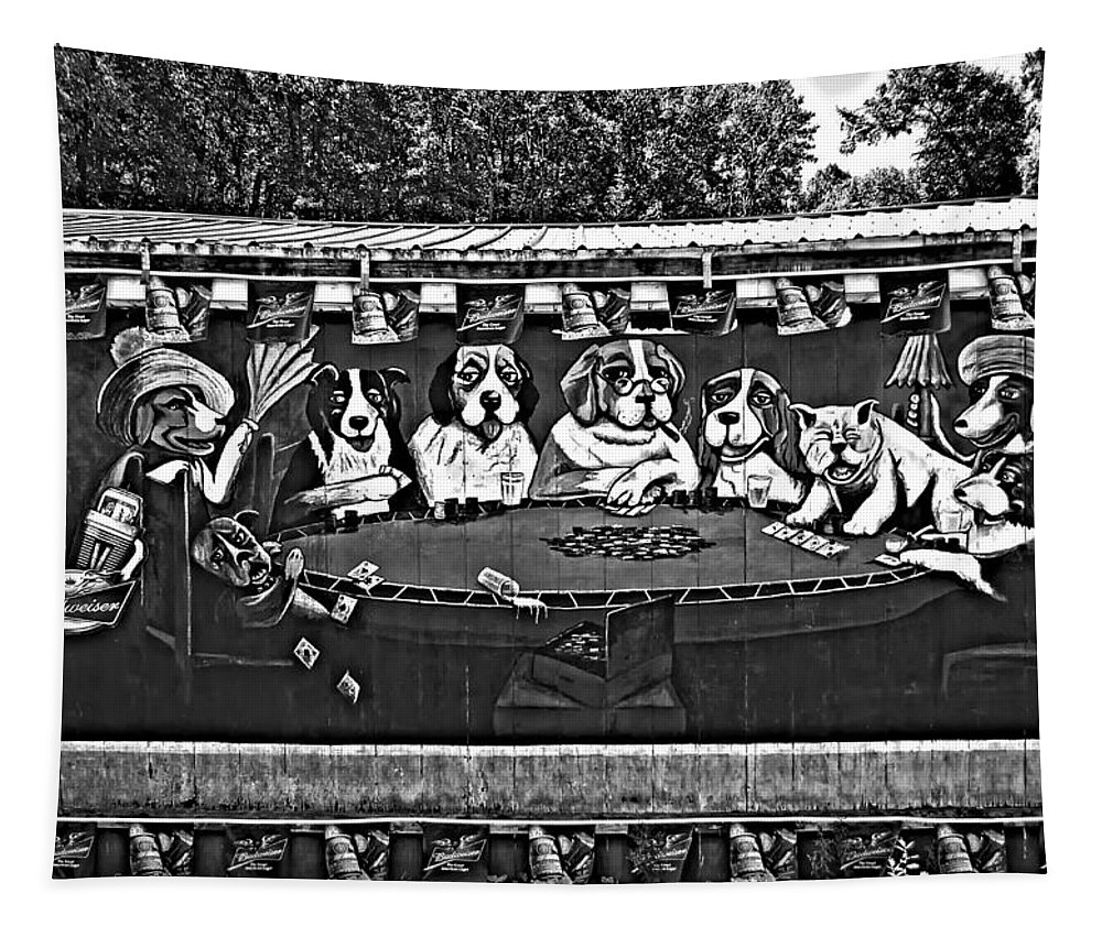 West Virginia Tapestry featuring the photograph Da Guys Monochrome by Steve Harrington