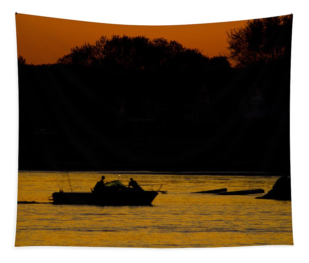Fishing Tapestry featuring the photograph Day Of Fishing Is Over by Karol Livote