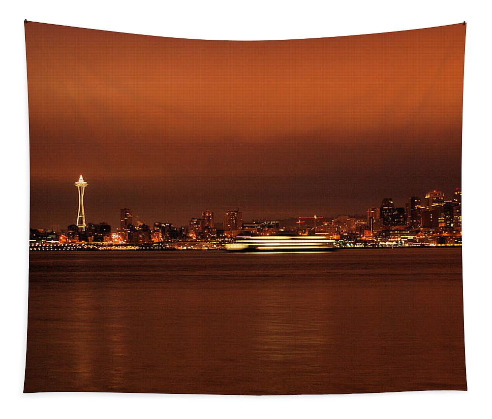 Ferry Tapestry featuring the photograph Daybreak Ferry by Michael Merry