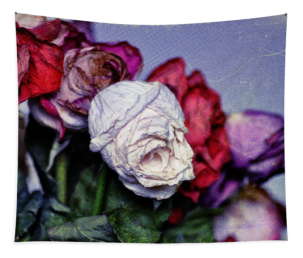 Dead Flowers Tapestry featuring the photograph Dead Flowers by Bill Cannon