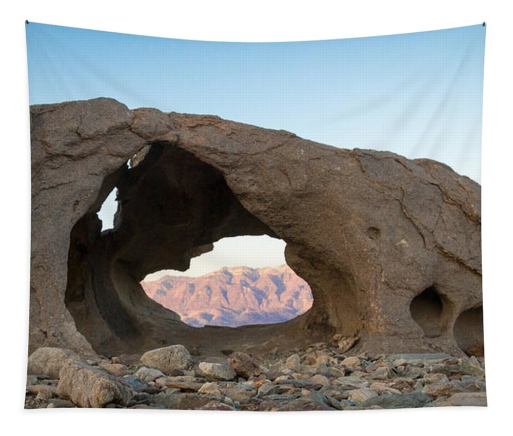 Death Valley Tapestry featuring the photograph Death Valley Rock by Jean Noren