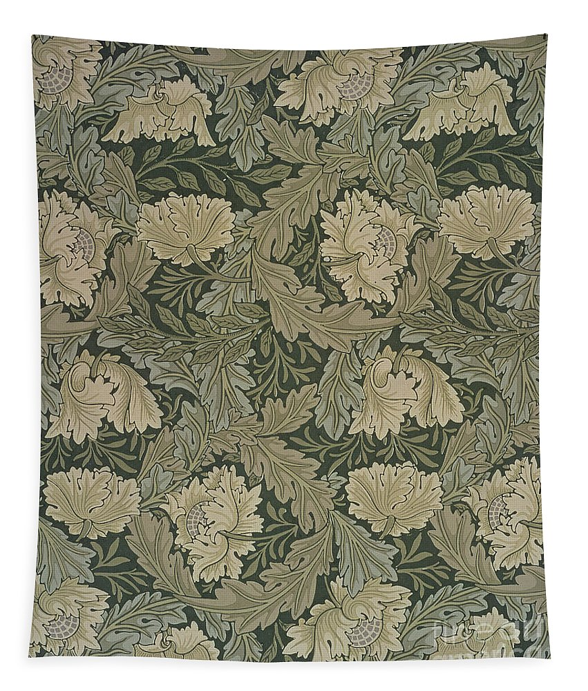 Design For 'lea' Wallpaper Tapestry featuring the painting Design For 'lea' Wallpaper by William Morris