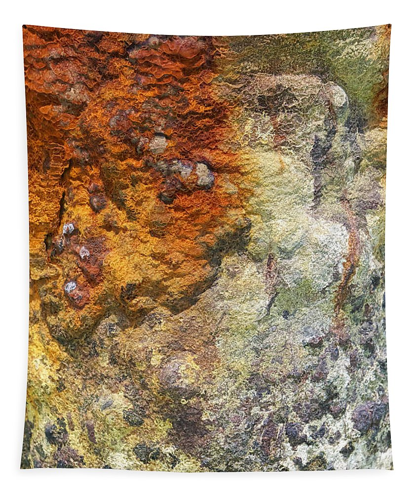 Aruba Tapestry featuring the photograph Detail Of A Rusted Dock Pier II by David Letts