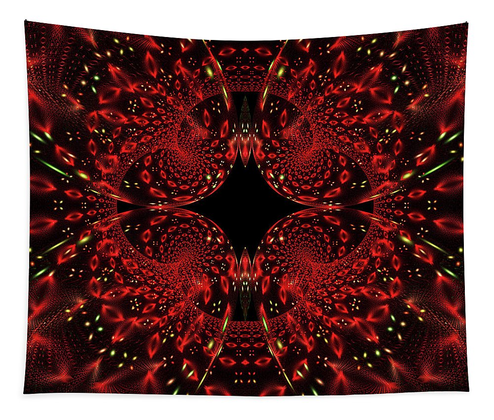 Art Tapestry featuring the digital art Diamond Eye by Mary Lane