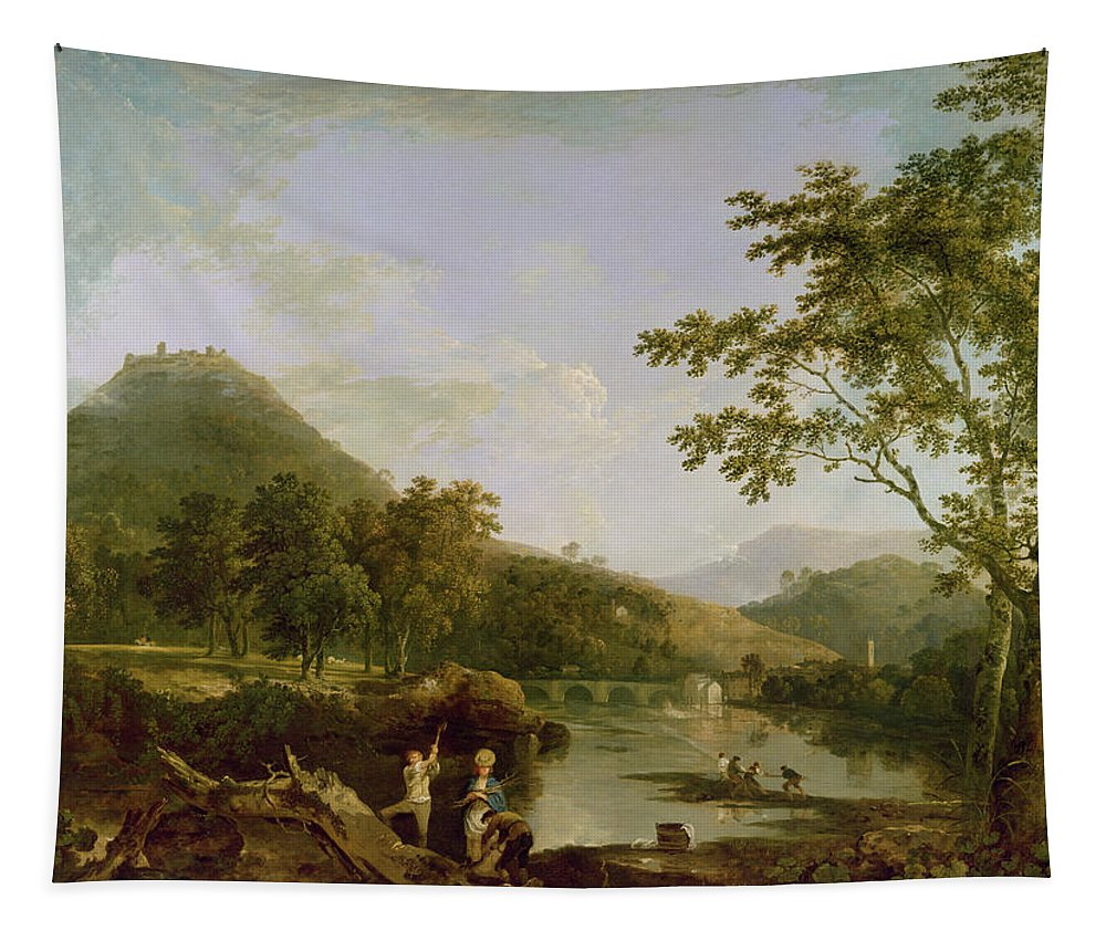 Xyc118504 Tapestry featuring the photograph Dinas Bran From Llangollen by Richard Wilson