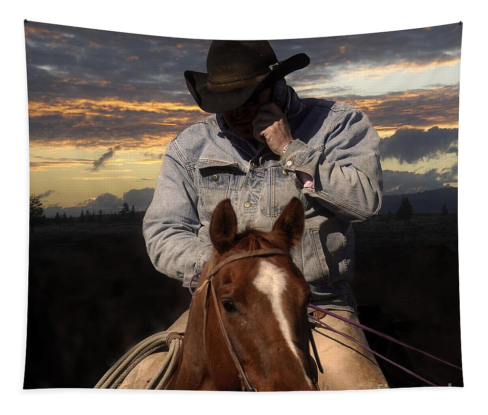 Horse Tapestry featuring the photograph Dinner Call by Wildlife Fine Art