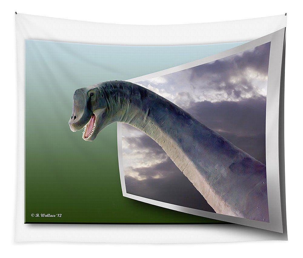 2d Tapestry featuring the photograph Dinosaur - Oof by Brian Wallace